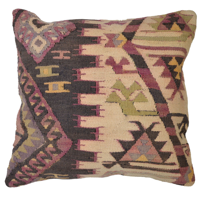 16 x 16 In Southwestern Style Hand-Woven Kilim Pillow Cover Brpal-144