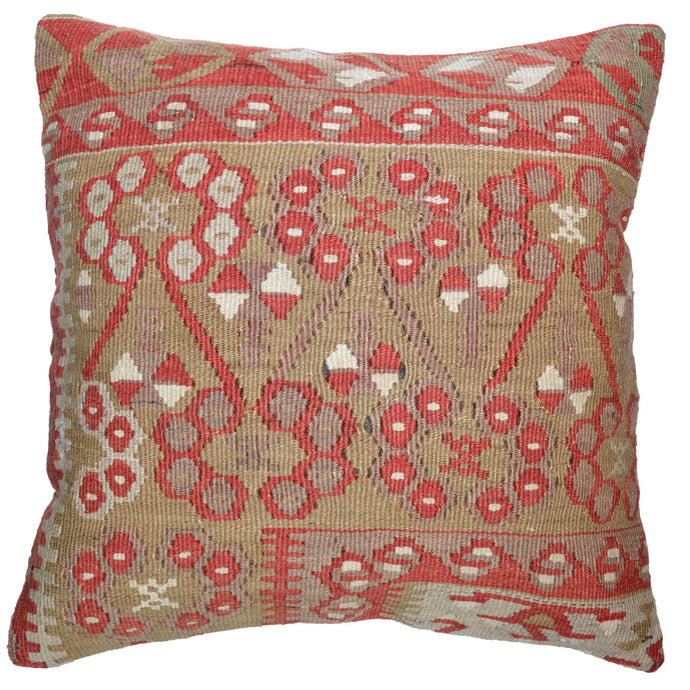 16 x 16 in Vintage Style Hand-Woven Kilim Pillow Cover Brpal-186