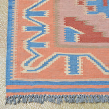 Load image into Gallery viewer, Hand-Woven Geometric Design Wool Reversible Kilim Rug (Size 5.8 X 6.8) Brrsf-6102
