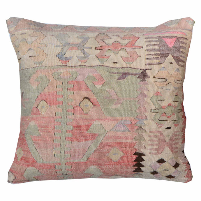 Large Geometric Pattern Hand-Woven Kilim Pillow Cover Brpsf-2157