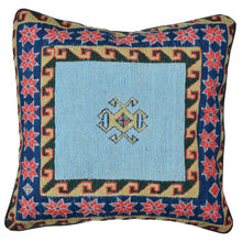 "Load image into Gallery viewer, 16"" x 16"" Geometric Pattern Hand-Woven Soumak Pillow Cover Brpsf-2256"
