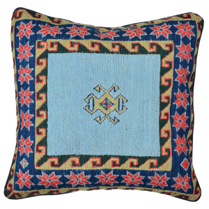 "16"" x 16"" Geometric Pattern Hand-Woven Soumak Pillow Cover Brpsf-2256"