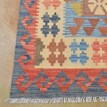 Load image into Gallery viewer, Hand-Woven Tribal Geometric Design Kilim Wool Rug (Size 6.4 X 10.1) Brral-3087