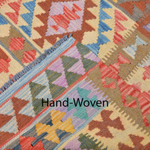 Load image into Gallery viewer, Hand-Woven Tribal Geometric Design Kilim Wool Rug (Size 6.3 X 10.2) Brral-3102
