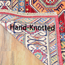 Load image into Gallery viewer, Hand-Knotted Super Kazak Design Wool Handmade Rug (Size 5.0 X 6.10) Brral-3231