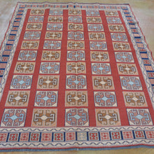 Load image into Gallery viewer, Soumak Weave Tribal Afghan Handmade Wool Rug (Size 5.0 X 6.5) Brral-3798