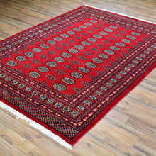 Load image into Gallery viewer, Hand-Knotted Tribal Jaldar Bokhara Design Wool Rug (Size 5.6 X 7.10) Brral-3963