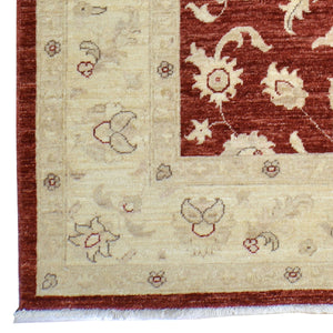 Hand-Knotted Tribal Peshawar Wool Traditional Design Rug (Size 6.2 X 9.0) Brral-3975