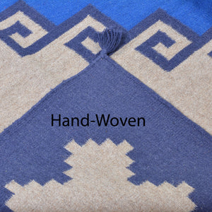 Hand-Woven Reversible Southwestern Design Wool Rug (Size 6.2 X 9.0) Brral-4050