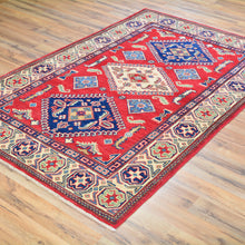 Load image into Gallery viewer, Hand-Knotted Kazak Design Handmade Wool Rug (Size 3.10 X 6.0) Brral-4275