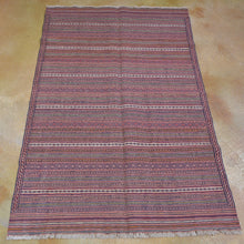 Load image into Gallery viewer, Soumak Afghan Lagharee Tribal Design Handmade Wool Rug (Size 3.0 X 5.1) Brral-4953