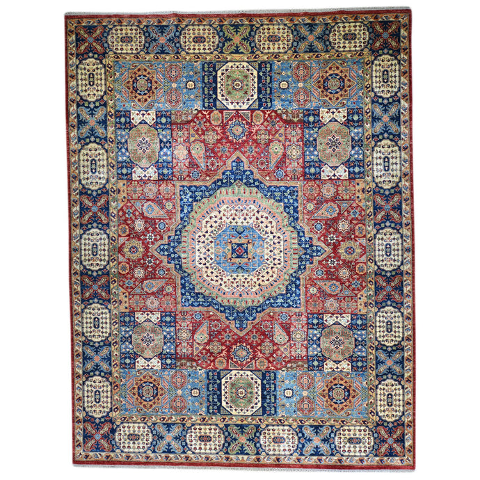 Hand-Knotted Fine Mamluk Design Handmade Oriental Wool Rug (Size 9.1 X 12.1) Brral-5388