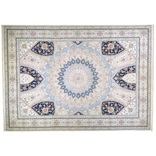 Load image into Gallery viewer, Hand-Knotted Oriental Wool Silk Gumbad Design Handmade Rug (Size 9.0 X 12.1) Brral-5640