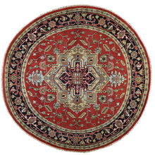 Load image into Gallery viewer, Hand-Knotted Round Traditional Heriz Design Wool Rug (Size 8.0 X 8.0) Brral-5916