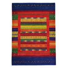 Load image into Gallery viewer, Hand-Knotted Modern Gabbeh Design Wool Handmade Rug (Size 5.8 X 8.4) Cwral-5919
