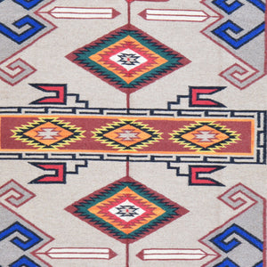 Hand-Woven Southwestern Design Handmade Wool Rug (Size 5.11 X 8.11) Brral-6042