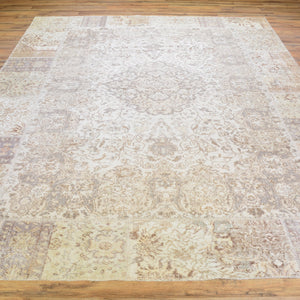 Hand-Knotted Over-dyed Patch Work 100% Wool Rug (Size 8.0 X 10.1) Brral-6165