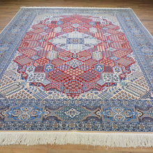 Load image into Gallery viewer, Hand-Knotted Geometric Design Handmade Wool/Silk Rug (Size 7.3 X 10.9) Brral-6270