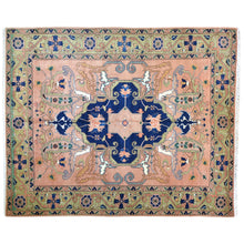 Load image into Gallery viewer, Hand-Knotted Geometric Design Handmade Wool Rug (Size 8.2 X 9.10) Brral-6333