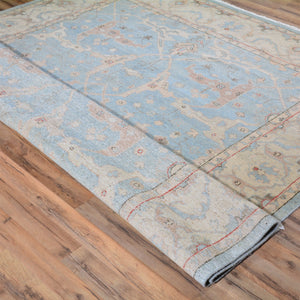 Hand-Knotted Peshawar Oushak Design Wool Rug (Size 7.10 X 9.8) Brral-6348