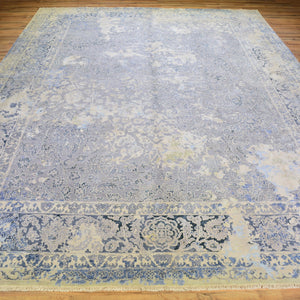 Fine Wool Silk Traditional Design Handmade Rug (Size 9.0 X 12.0) Brral-6393