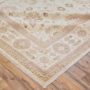 Hand-Knotted Afghan Tribal Oushak Design Rug (Size 8.10 X 11.9) Brral-6441