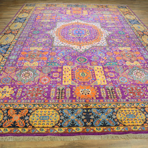 Hand-Knotted Oriental Mamluk Design Wool Rug (Size 9.9 X 13.11) Brral-6447