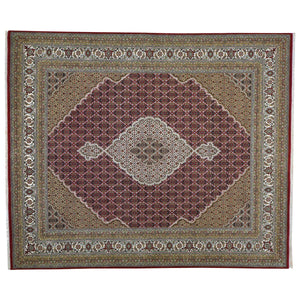 Hand-Knotted Tabriz Design Handmade Wool Rug (Size 8.0 X 10) Brral-6483