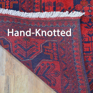 Hand-Knotted Fine Turkmen Handmade Tribal Traditional Afghan Rug (Size 5.2 X 6.6) Brral-6498
