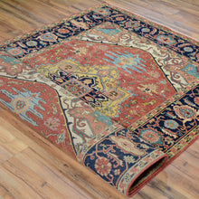 Load image into Gallery viewer, Hand-Knotted Fine Oriental Heriz Design Wool Handmade Rug (Size 5.2 X 7.4) Brral-6513