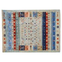 Load image into Gallery viewer, Hand-Knotted Kashkuli  Tribal Design Wool Rug (Size 5.0 X 6.7) Brral-6516