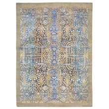 Load image into Gallery viewer, Hand-Knotted Abstract Design Wool/Silk Rug (Size 5.0 X 7.0) Brral-6531