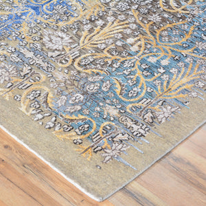 Hand-Knotted Abstract Design Wool/Silk Rug (Size 5.0 X 7.0) Brral-6531