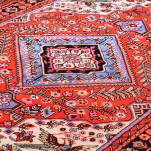 Hand-Knotted Persian Hamadan Authentic Wool Rug (Size 4.10 X 7.11) Brral-6534