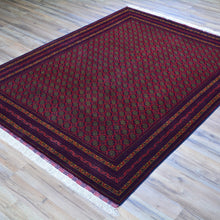 Load image into Gallery viewer, Hand-Knotted Fine Afghan Tribal Turkoman Wool Rug (Size 5.1 X 6.9) Brral-6540