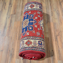 Load image into Gallery viewer, Hand-Knotted Extra Long Kazak Runner 100% Wool Rug (Size 3.3 X 37.8) Brral-6588