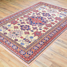Load image into Gallery viewer, Hand-Knotted Fine Super Kazak Caucasian Design Wool Rug (Size 5.0 X 7.4) Brral-675
