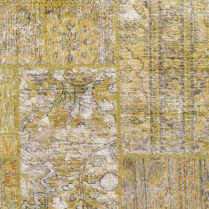 Hand-Knotted Modern Overdyed Patchwork Wool Handmade Rug (Size 5.1 X 6.11) Brral-738