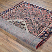 Load image into Gallery viewer, Hand-Knotted Vintage Persian Hamadan Geometric Wool Rug (Size 4.10 X 6.11) Brral-768