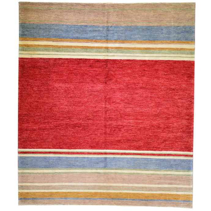 Hand-Knotted Gabbeh Design Wool Handmade Rug (Size 8.1 x10.3) Brral-942