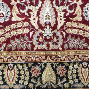 Hand-Knotted Fine Traditional Design Wool Silk Handmade Rug (Size 8.1 X 10.2) Brral-1083