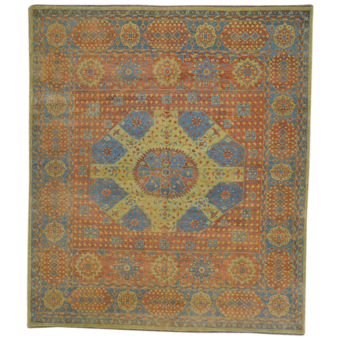 Hand-Knotted Mamluk Egyptian Design Wool Rug (Size 8.0 X 9.10) Brral-1095