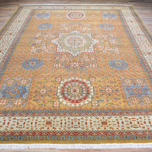 Hand-Knotted Mamluk Design Handmade Wool Rug (Size 8.9 X 11.5) Brral-1185