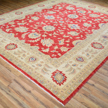 Load image into Gallery viewer, Hand-Knotted Afghan Chobi Tribal Oushak Design Rug (Size 8.11 X 10.8) Brral-1209