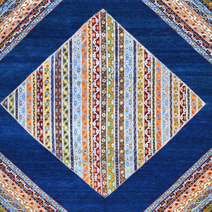 Hand-Knotted Oriental Geometric Design Wool Handmade Rug (Size 8.5 X 11.9) Brral-1221