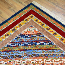 Load image into Gallery viewer, Hand-Knotted Oriental Geometric Design Wool Handmade Rug (Size 8.5 X 11.9) Brral-1221