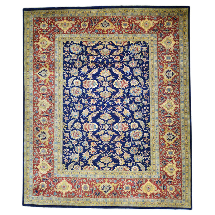 Hand-Knotted Oriental New Zealand Wool Sarouk Design Handmade Rug (Size 9.0 X 11.7) Brral-1269