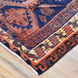 Hand-Knotted Persian Hamadan Wool Geometric Design Rug (Size 5.1 X 6.9) Brral-2262