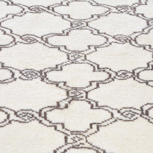 Hand-Knotted New Contemporary Design Wool Rug (Size 5.5 X 6.10) Brral-2319