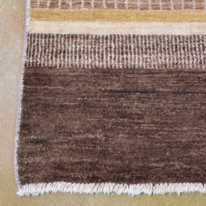 Hand-Knotted Striped Peshawar Gabbeh Wool Handmade Rug (Size 8.0 X 10.1) Brral-2556